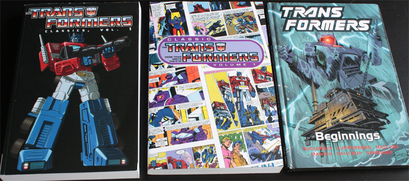 All three covers of G1 reprints